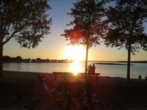 coucher de soleil lac de sanguinet